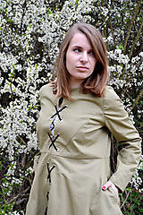 Kabáty - Jarný trenčkot s viazačkou  - 8043511_