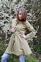 Kabáty - Jarný trenčkot s viazačkou  - 8043512_