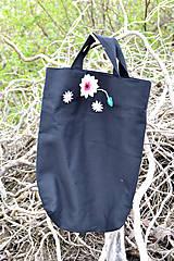 Nákupné tašky - Čierna vyšívaná nákupná taška  - 8043551_