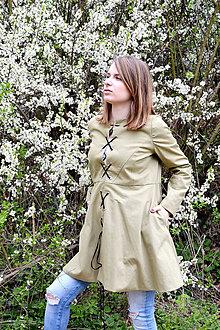 Kabáty - Jarný trenčkot s viazačkou - 8043510_