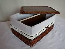 Košíky - Box s priehradkou a poklopom - 8046075_