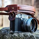 Iné doplnky - Rerto fotopopruh z pravej kože - 8043651_