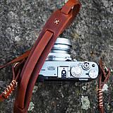 Iné doplnky - Rerto fotopopruh z pravej kože - 8043659_
