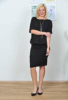 Šaty - Šaty pre každú príležitosť SIMPLE black - 8043802_