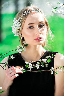 Ozdoby do vlasov - Wedding Crystals Collection ... čelenka - 8048662_