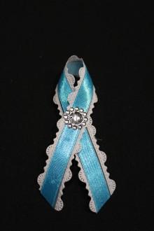 Pierka - Svadobné pierko čipkované - modré - 8047777_