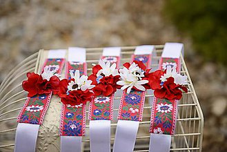 Ozdoby do vlasov - AKCIA   set parta a náramky by michelle flowers - 8047760_