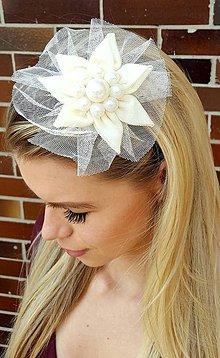 Iné šperky - Čelenka biely kvet - 8048980_