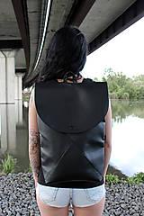 Batohy - Ruxak DREIECK schwarz koženka - 8048699_