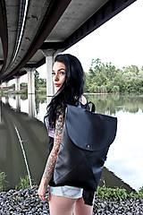 Batohy - Ruxak DREIECK schwarz koženka - 8048700_