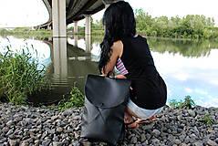 Batohy - Ruxak DREIECK schwarz koženka - 8048704_