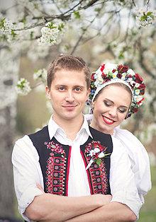 Pierka - Folklórne pierko pre ženícha - 8050700_