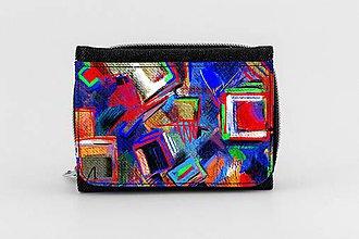 Peňaženky - Peňaženka riflová maľba 01 - 8049301_