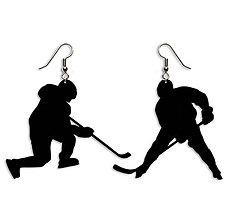 Náušnice - Visiace náušnice hokejisti - 8047411_