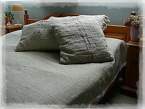 Úžitkový textil - Lněný přehoz NATURAL na dvoulůžko - 8048127_