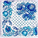 - Servítka  FV77- Modré ornamenty - 8049686_