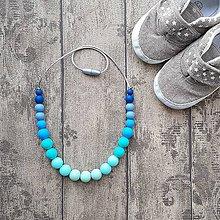 """Náhrdelníky - Silikónový náhrdelník k šatke na nosenie detí """"Yaro La Vita Aqua"""" - 8050792_"""