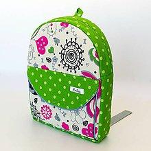 Detské tašky - Detský nepremokavý ruksak/batoh - greenery - 8050372_