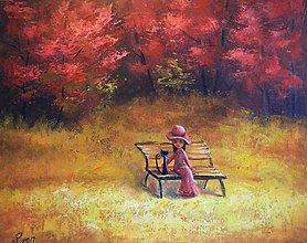 Obrazy - Na lavičce - 8050558_
