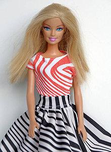 28c226c1f591 Dúhové spoločenské šaty pre Barbie   TrishaFate - SAShE.sk ...