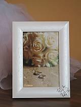 Rámiky - Svadobný fotorámik perleťový s dátumom svadby - 8047926_