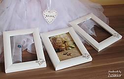 Rámiky - Svadobný fotorámik perleťový s dátumom svadby - 8047927_