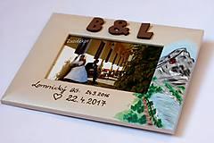 Rámiky - Svadobný dar - fotorámik s motívom Lomnického štítu - 8047991_