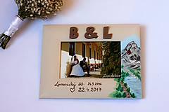 Rámiky - Svadobný dar - fotorámik s motívom Lomnického štítu - 8047992_