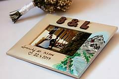 Rámiky - Svadobný dar - fotorámik s motívom Lomnického štítu - 8047993_