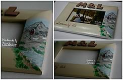 Rámiky - Svadobný dar - fotorámik s motívom Lomnického štítu - 8047995_