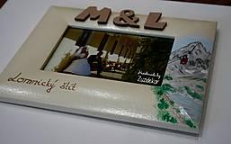 Rámiky - Svadobný dar - fotorámik s motívom Lomnického štítu - 8047996_