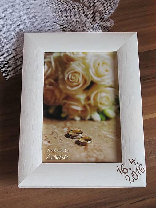Svadobný fotorámik perleťový s dátumom svadby