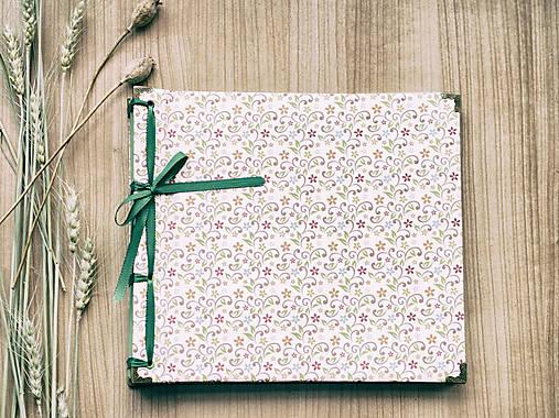 Papiernictvo - Fotoalbum klasický s potlačou kvetín - 8048632_