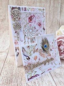 Papiernictvo - Pohľadnica v Boho štýle - 8049821_