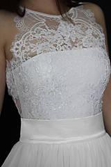 Šaty - Svadobné šaty s holými ramenami a tylovou sukňou - 8047780_