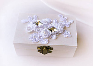 Krabičky - Svadba 2017 - krabička na šperky alebo prstienky - 8048179_