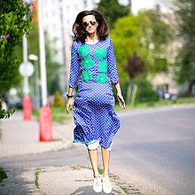Šaty - Origo šaty maxi kvety ... - 8048975_