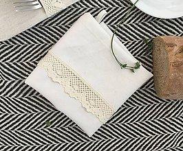 Úžitkový textil - Utierka z ručne tkaného ľanu - 8050252_