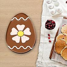 Grafika - Grafické čokoládové veľkonočné vajíčko vlnky - kvetina - 8050635_