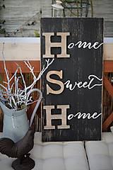 Tabuľky - Tabuľa HSH s drevenými písmenami - 8048283_