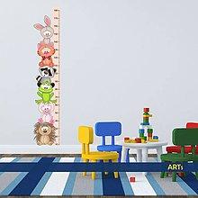 Dekorácie - (3596f) Nálepka na stenu - Meter so zvieratkami - 8052114_