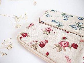 Na notebook - Obal na mobil- režný s červenými ružami - 8051902_