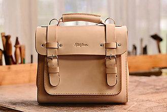 Kabelky - Kožená kabelka Satchel mini - 8053247_