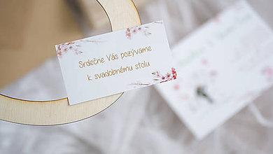 Papiernictvo - Pozvanie k svadobnému stolu - 8052339_