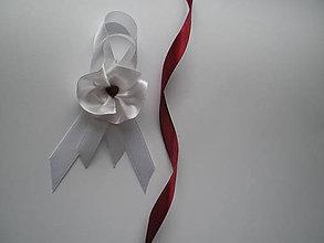 Pierka - svadobné pierko s bordovým srdiečkom I. - 8052087_