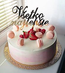 Dekorácie - Všetko najlepšie na tortu - 8050799_
