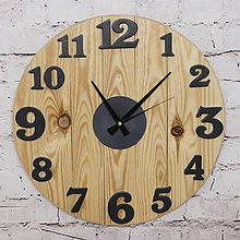 Hodiny - Drevené nástenné hodiny borovica
