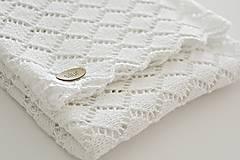 Textil - Detská pletená deka - biela - 8052420_
