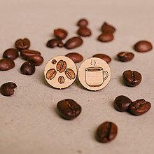 Náušnice - šálka kávy - napichovačky - 8052708_