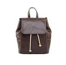 Batohy - Dámsky módny ruksak v hnedej farbe - 8052139_